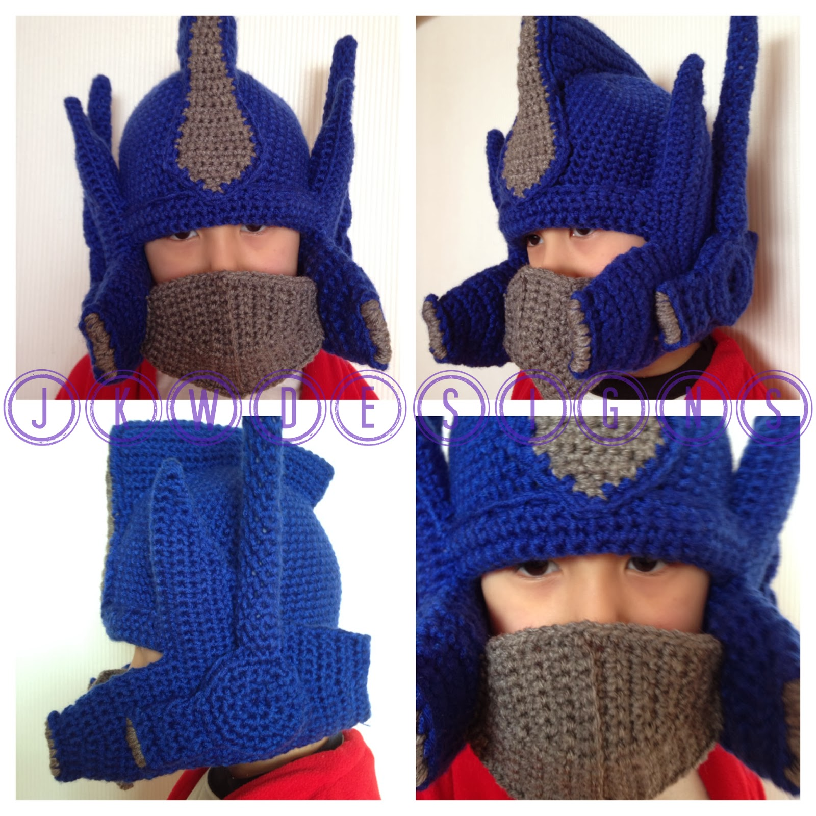 Crochet Pattern For Optimus Prime Hat : Crochet Optimus Prime Hat