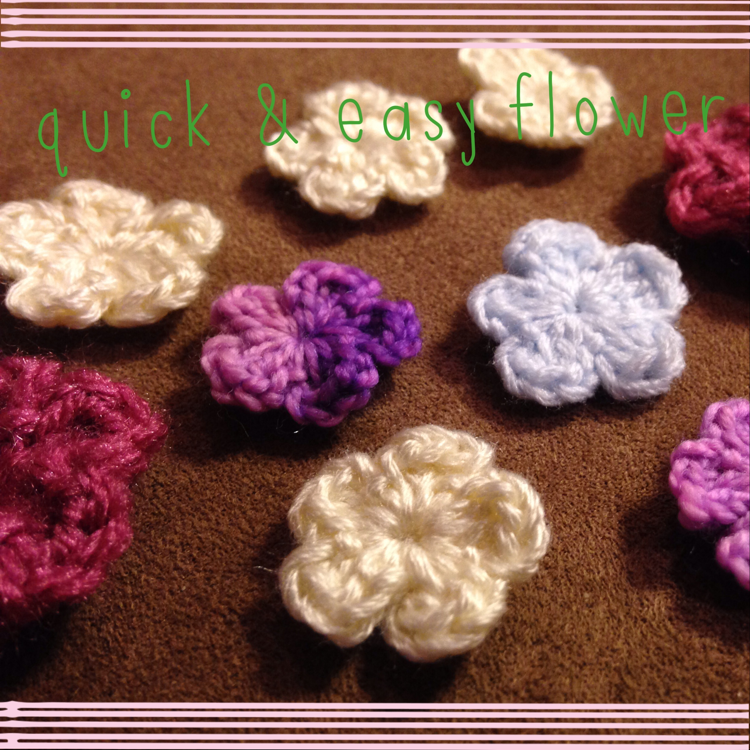 Quick Crochet Flower Pattern : Pattern: Quick and Easy 5 or 6 Petal Flower ...somewhere ...