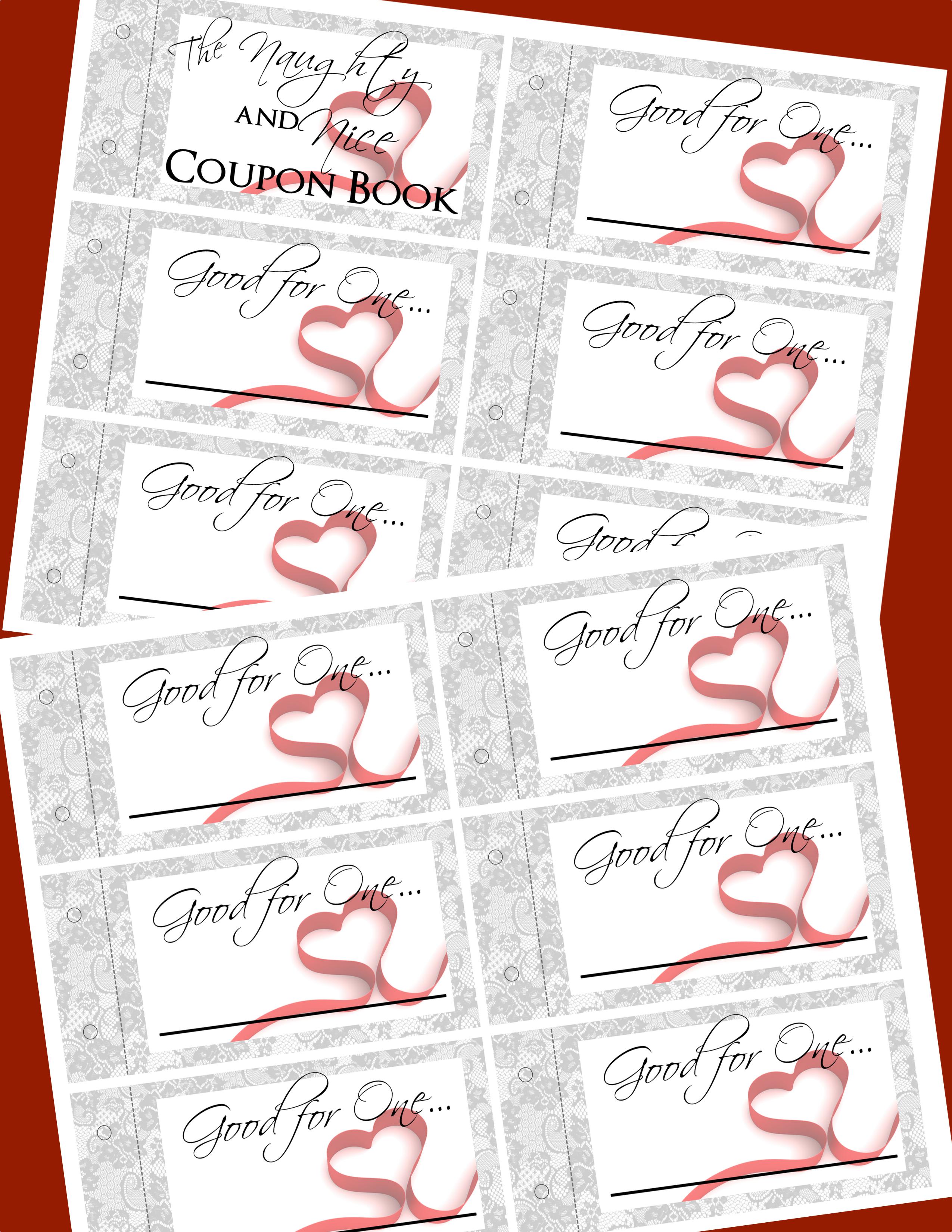 Free printable naughty coupons